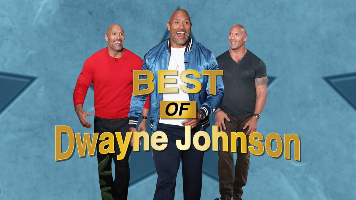 Image for the Tweet beginning: The montage of Dwayne Johnson