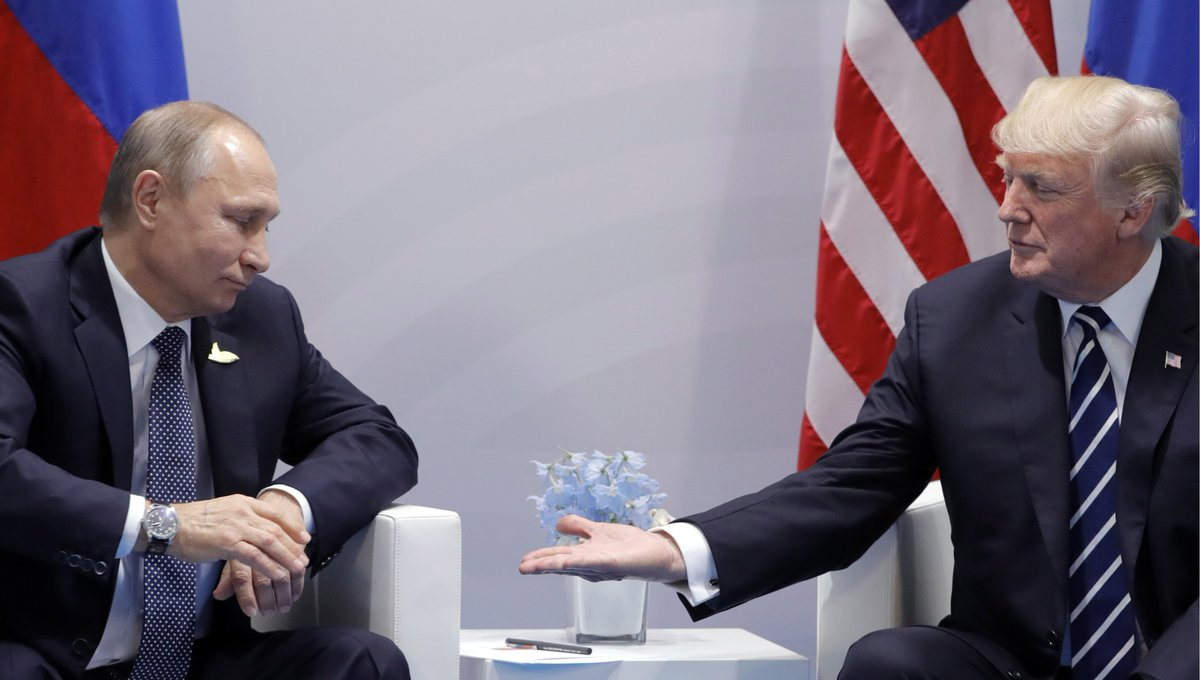 Trump HAS TO CANCEL his Helsinki summit with Putin IMMEDIATELY. He CANNOT meet with Putin so soon after the Department of Justice's confirmation, via 12 new indictments against GRU officers, that Putin had his military coordinate a massive attack on America. RETWEET if you agree.