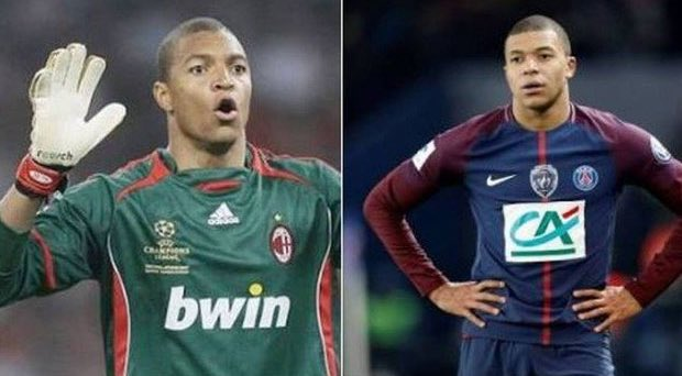 Dida played for Brazil at the 1998 World Cup in France.   Mbappe was born in 1999 in France.   🤔🤔