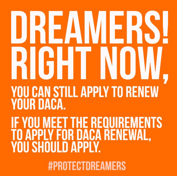 If your #DACA expired on or after the September 5, 2016 you may submit a DACA renewal application. Apply with USCIS → https://t.co/Vafoqv6STX #DreamActNow