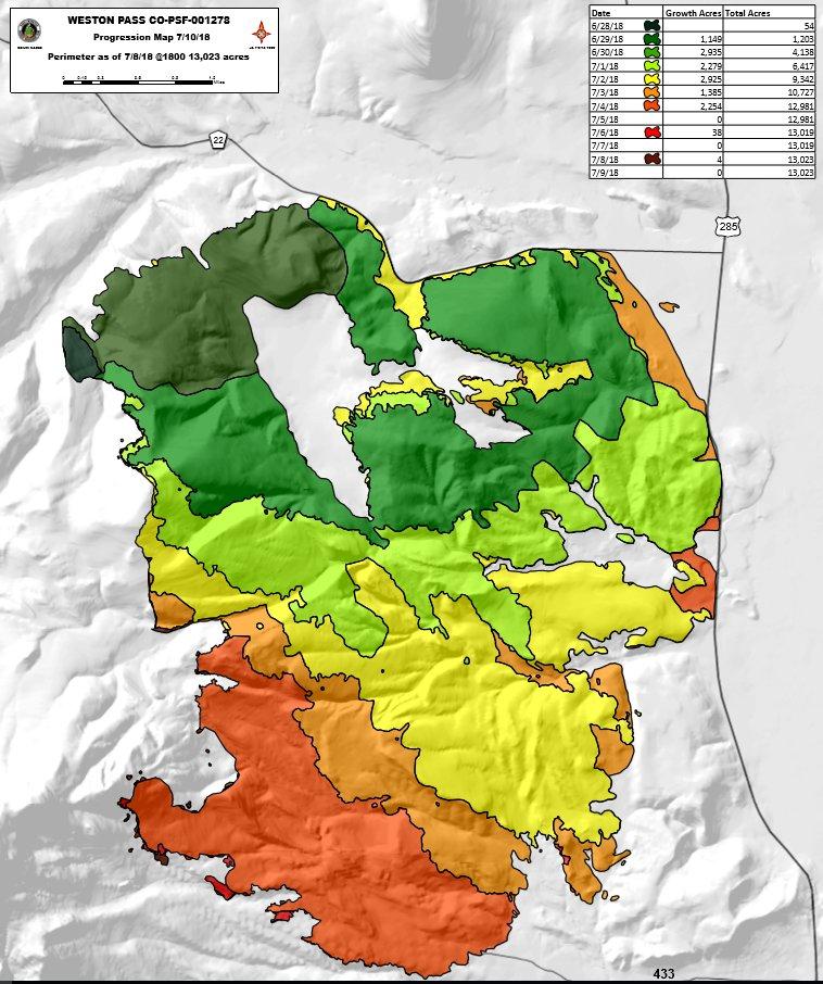 Cory Reppenhagen على تويتر Fire Progression Map Showing How The