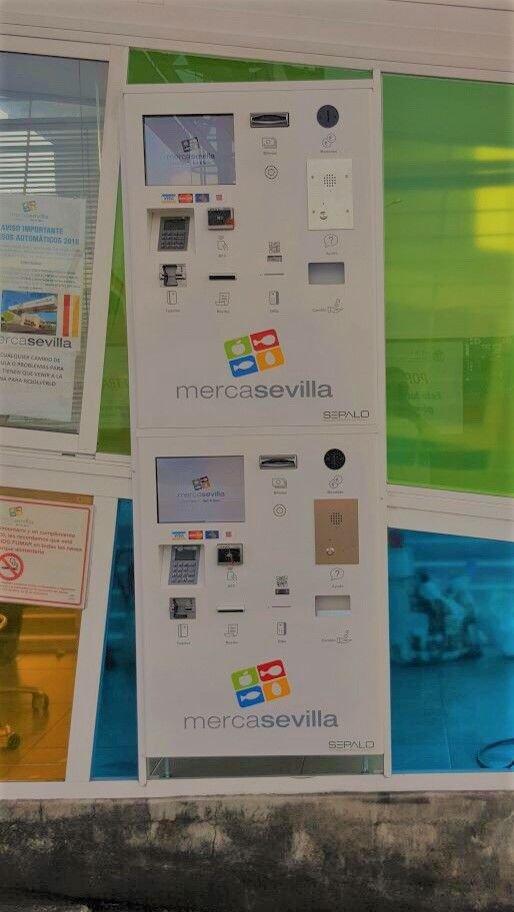 Sevilla tiene un color especiaaal...🎶🎵 Al igual que el cajero de auto-pago que hace unos días estrenaron nuestros amigos de @MercaSevilla 🍏🐟Pago en metálico, tarjeta de crédito, contactless... Gracias por confiar en @SepaloSoftware #SecurePayment #AutoPago #ControlAcceso