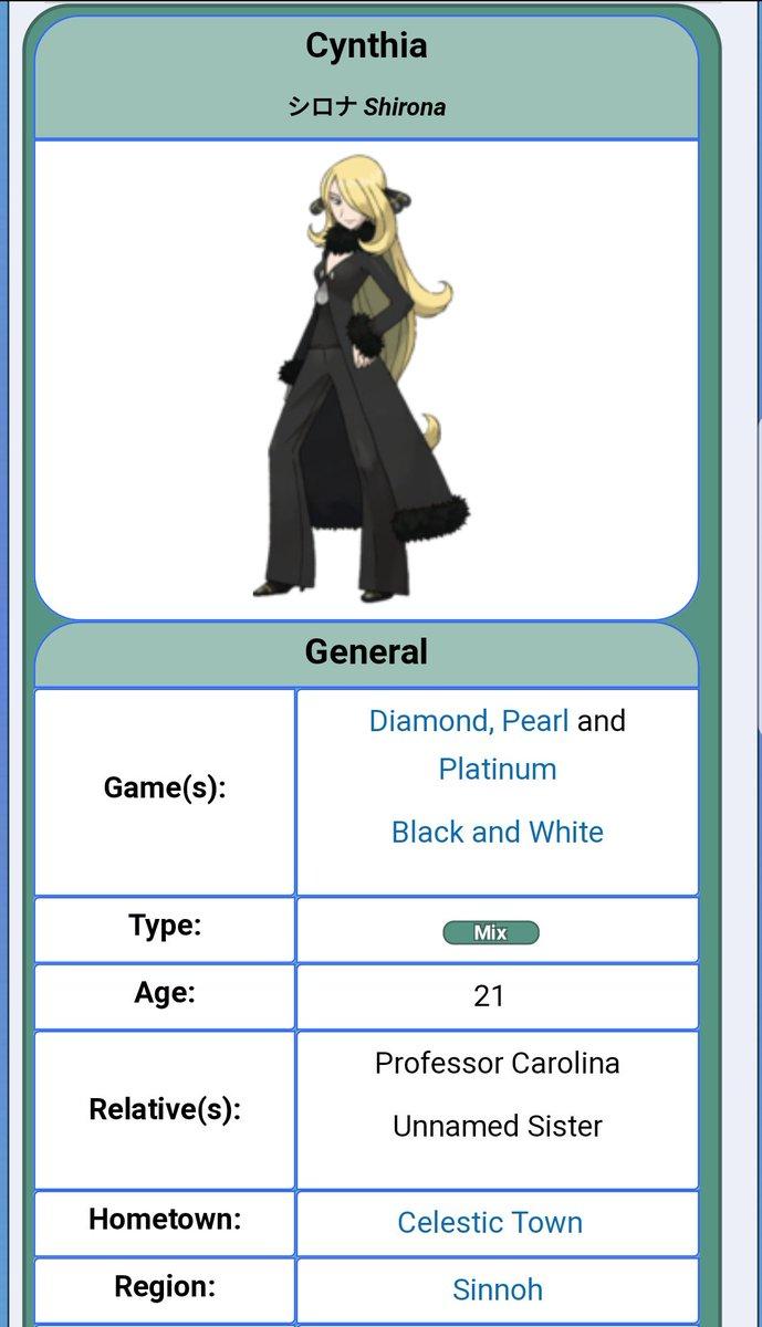 pokemon cynthia age