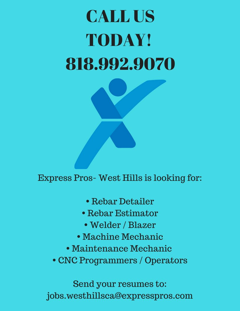 Express Employment Professionals Of West Hills On Twitter We Are Hiring