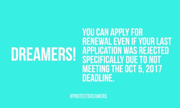 #DidYouKnow that you can still renew your #DACA? If you meet the requirements to apply for DACA renewal, apply today! → https://t.co/aGx44SH7Gj
