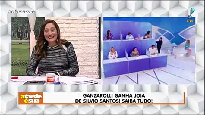 Ganzarolli ganha joia de Silvio Santos! Saiba tudo! #AtardeEsua Foto