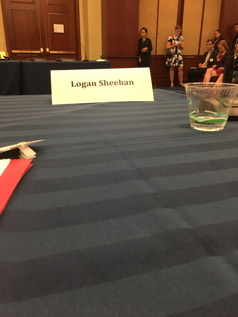 Logan joined me in testifying at the #peopleoverpolluters #EnvironmentalMessagingForum.<br>http://pic.twitter.com/eICkDbeloR