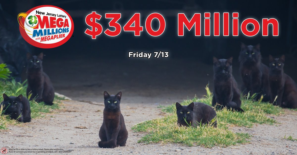 Who's fearless in the face of Friday the 13th? Sending you lots of MEGA luck for a $340,000,000 jackpot win from Mega Millions tonight! Do you have any good luck charms or superstitions when playing the Lottery? <br>http://pic.twitter.com/CIkX0qSnm3