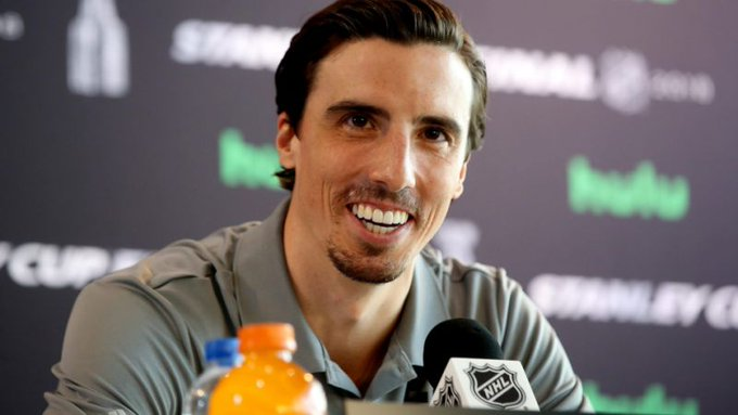 FOUR MORE YEARS! Marc Andre Fleury signs a 3-year contract extension with the Golden Knights. 🌸🌸🌸 Photo