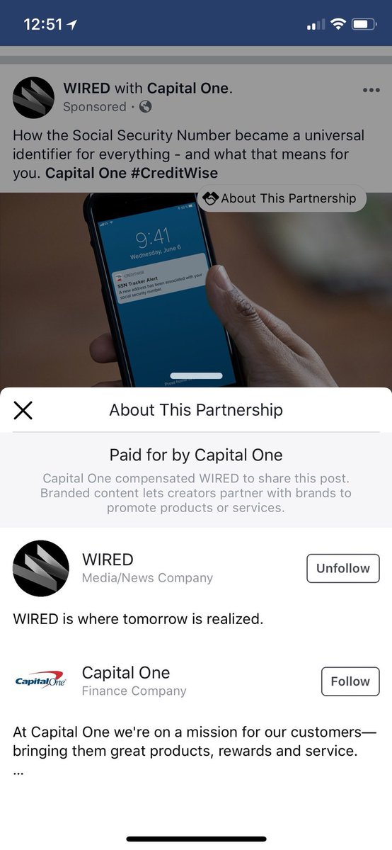 "Facebook is testing a ""about this partnership"" feature for sponsored posts ?  h/t @jennyearnest"