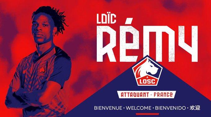 Lille, Fransız forvet oyuncusu Loic Remy ile 2 yıllık sözleşme imzaladı. Photo
