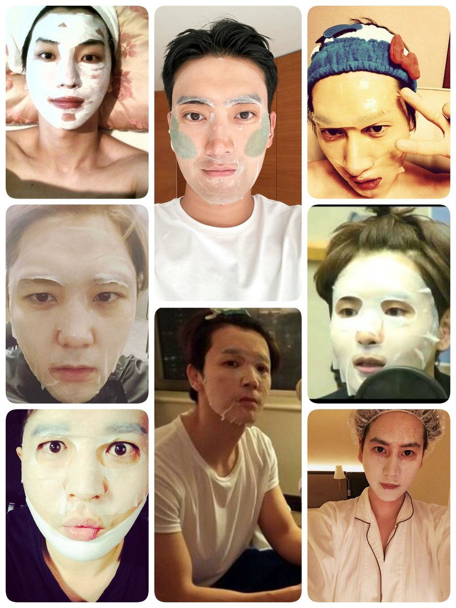 Super Junior and the mask 😅