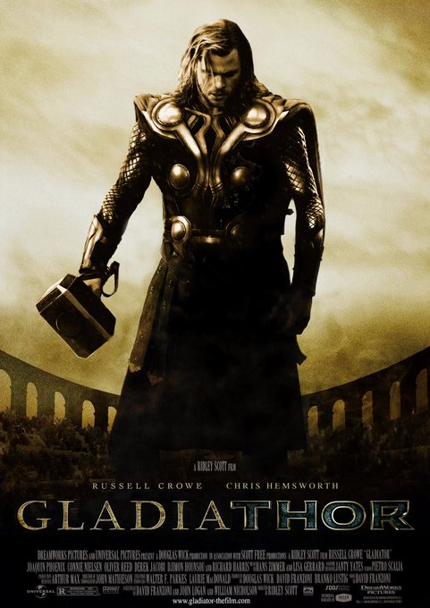 about GladiaThor #FilmsWithWhataboutism Photo
