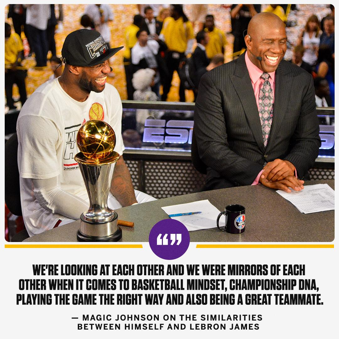 Magic Johnson sees a kindred spirit in LeBron James.