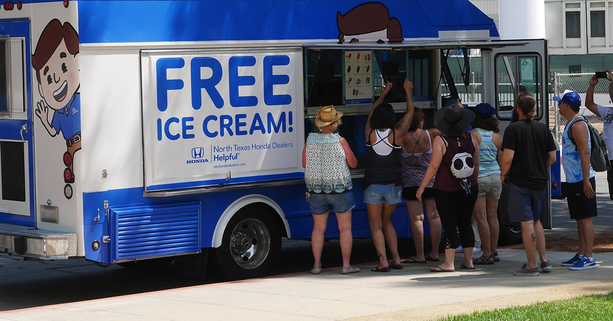 Keep An Eye Out For Our Ice Cream Truck To Get #FREE Ice Cream. And Be Sure  To Follow Us To Find Out Where Weu0027ll Be Next!pic.twitter.com/CyjS8EEvWM