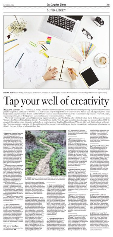 13 surefire ways to tap into your #creativity - Los Angeles Times @kelleybros @ideo and others - @alenedawson @latimes http://www.latimes.com/health/la-he-creativity-20170304-story.html… … #creative #confidence #productivity #business #entrepreneur #art #nature