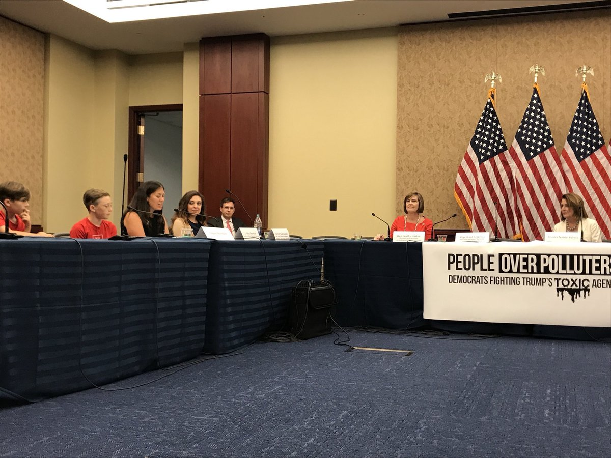 @USRepKCastor, @NancyPelosi , @RepMcEachin , @RepGrijalvaCS thank you for inviting me and Logan to speak at the #PeopleOverPolluters  forum. @CleanAirMoms is thankful for your leadership in protecting our children's health and futures.    https://www. facebook.com/NancyPelosi/vi deos/10156863521594384/ &nbsp; … <br>http://pic.twitter.com/LHtRqiGXEv