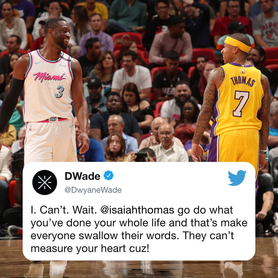 .@DwyaneWade is excited for @isaiahthomas' move to Denver.