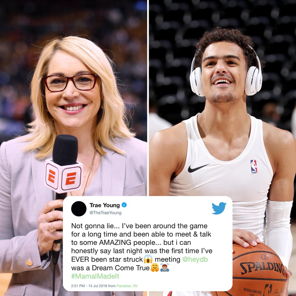 .@TheTraeYoung has a message for ya, @heydb 🤗