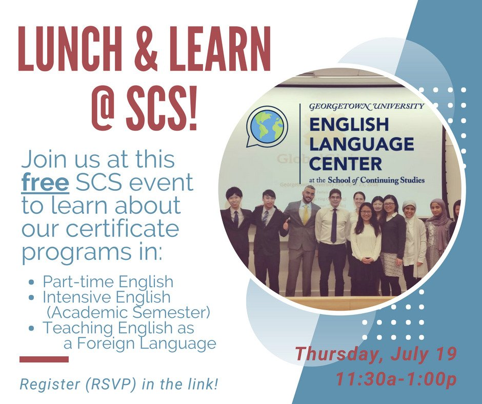 georgetown elc on twitter rsvp for a free lunch and info session