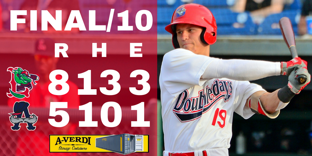 Doubledays can't capitalize on chances in extra innings loss to Spinners