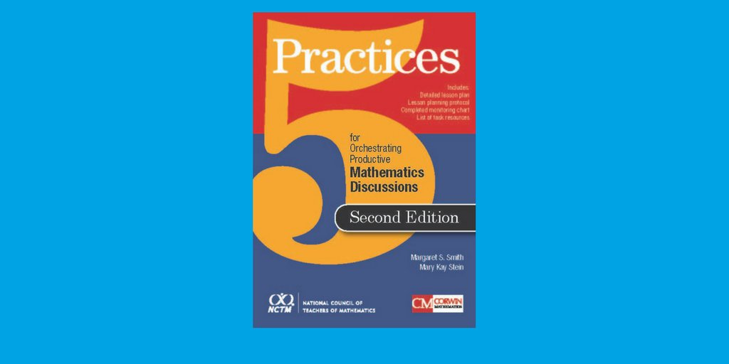 Newly Released: &quot;5 Practices for Orchestrating Productive Mathematics Discussion, 2nd Edition.&quot; Get your copy today and join the Author Talk Webinar on July 18th!  http:// ow.ly/N7Aq30kFWv8  &nbsp;  <br>http://pic.twitter.com/4VtpO4isx9