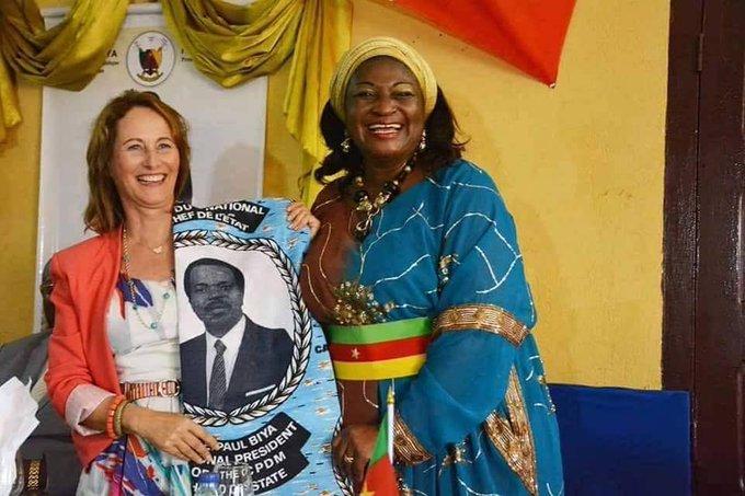 Ségolène Royale fait la promotion de la candidature de Paul BIYA auCameroun Photo