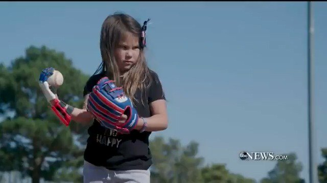 HOME RUN: Eight-year-old Hailey Dawson of Henderson, Nevada is determined to become the first person to throw a first pitch at all 30 MLB stadiums with the help of a robotic hand made by a 3-D printer. @DavidMuir reports. #PersonoftheWeek abcn.ws/2Laj5iA