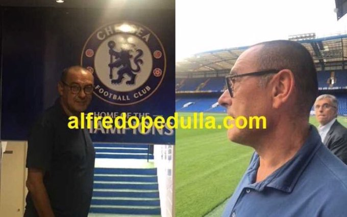 📸 | All credit to @AlfredoPedulla as he reveals the first Maurizio Sarri photos at chelsea 🔵📝 Photo