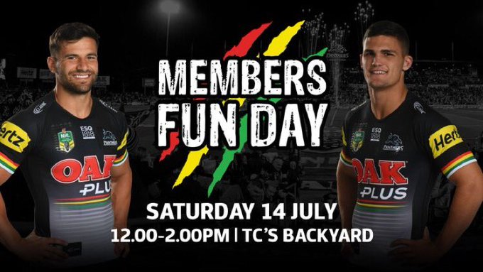 We're looking forward to our Members Fun Day! The fun starts at midday in The Backyard at Panthers Penrith Leagues Club. #pantherpride 🐾 Photo