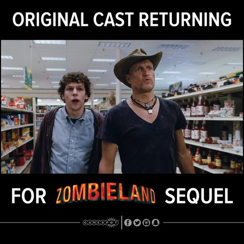 Zombieland 2 is official, set to release October 2019 with the original cast https://t.co/1tXj16wo30 https://t.co/HqdoaP2xPq