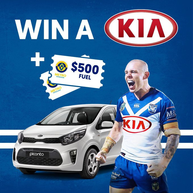 Would you like to drive away in a brand new @kiaaustralia car? Make sure to visit the membership and merch outlet at @ANZStadium today to enter the raffle! DETAILS- #proudtobeabulldog #NRLBulldogsSouths Photo
