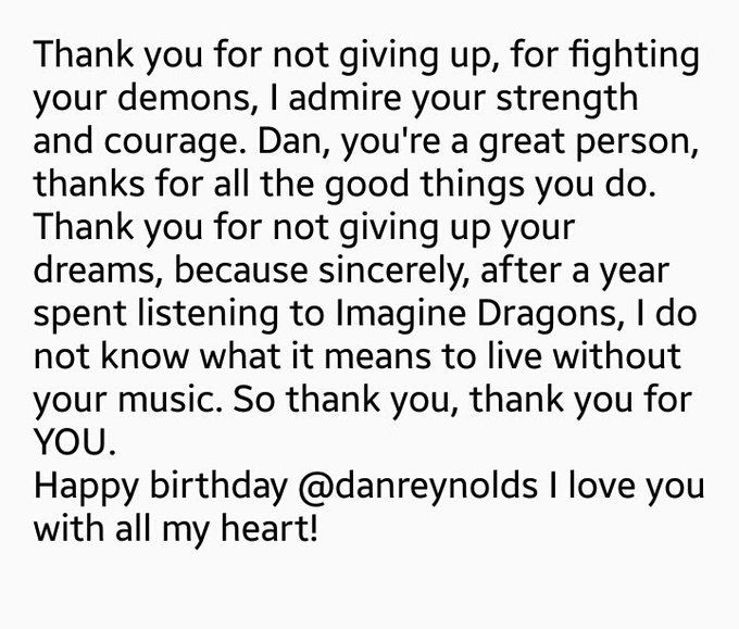 Happy birthday @danreynolds I love you so much! #HappyBirthdayDanReynolds Foto