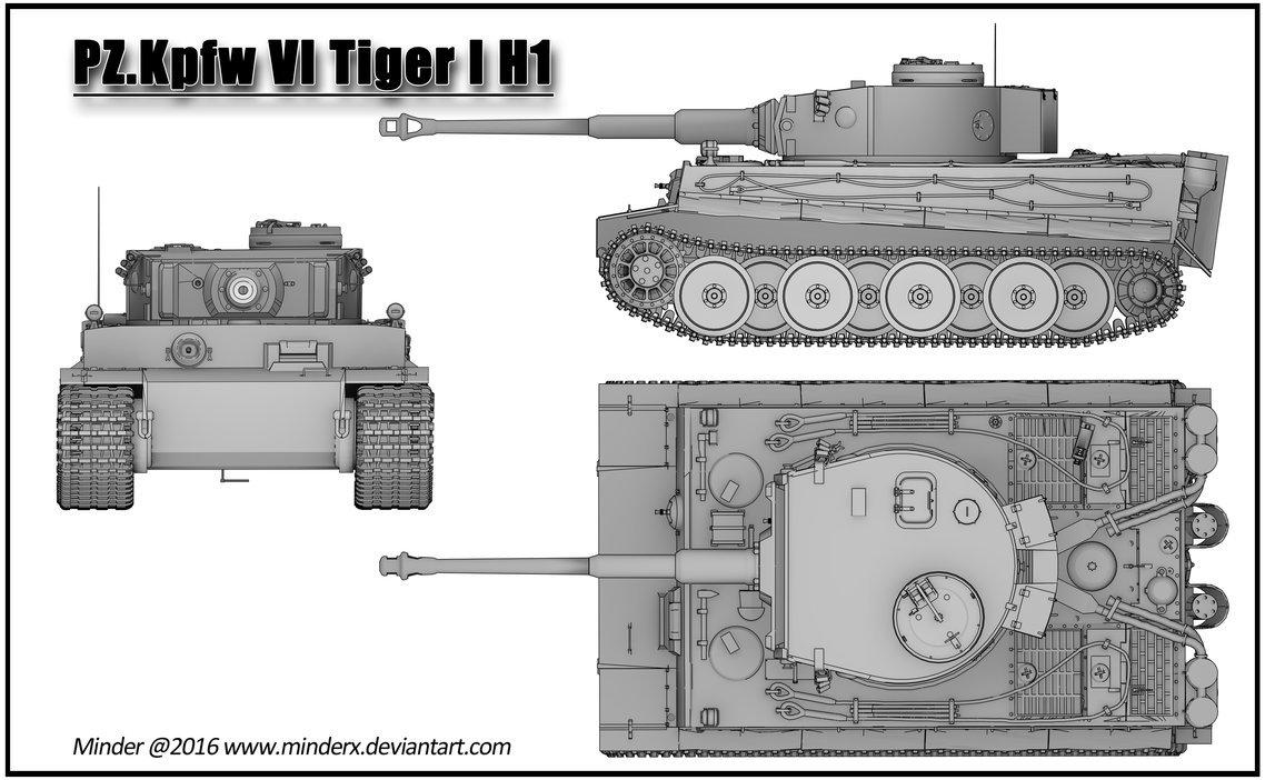 картинки танка тигр со всех сторон она