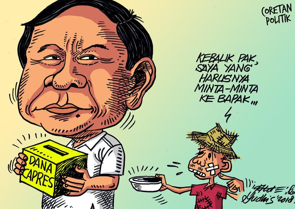 """Pinterpolitik.com on Twitter: """"Galang dana, cari dana cari simpati. # ilustrasi #kartun #ilustrasi #karikatur #editorial #cartoon  #coretanpolitik… """""""