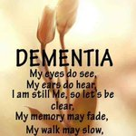Let us remember that dementia/alzheimers patients are still there if you arrive somewhere greet them just like anyone else and also make conversation to them they might not answer but just that action makes them feel included. #Togetherwecanmakeadifference  #ENDALZ #endthestigma