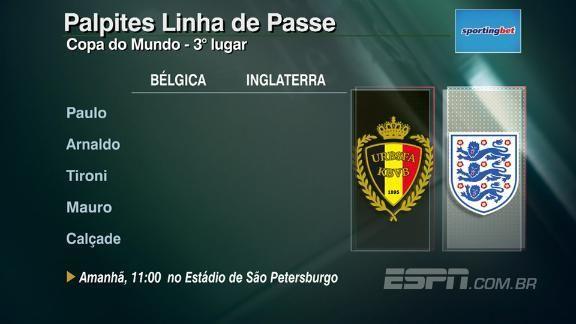Bélgica x Inglaterra: Linha de Passe palpita o placar da disputa de terceiro lugar da Copa do Mundo #ESPNnaRussia #LinhaDia30 Foto