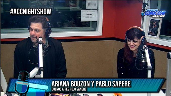 Charlamos con @_Arienne_ y @saperenonaude, realizadores del Festival Buenos Aires Rojo Sangre! #ACCNightShow por ! Foto