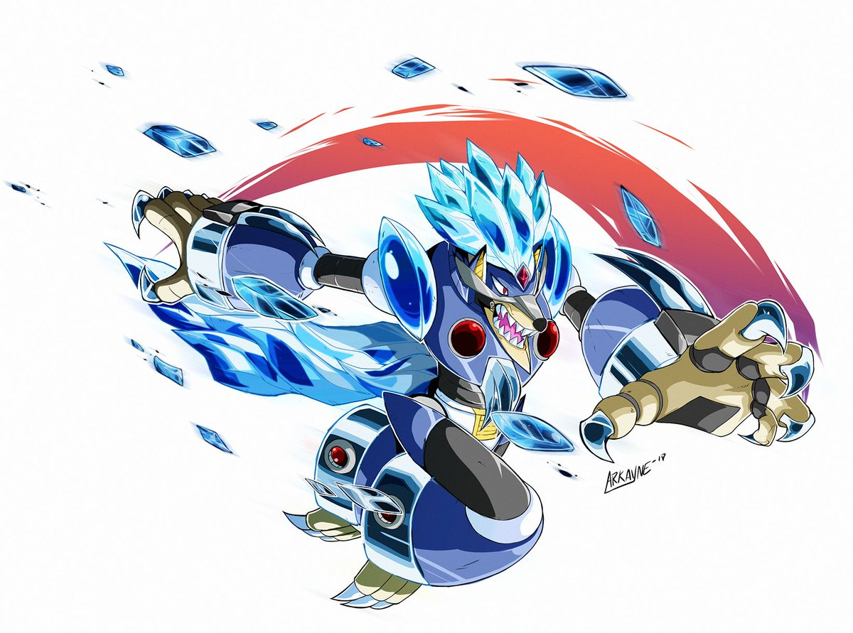 It's my piece for the  @MegaMan #Megaman30Collab #BlizzardWolfang  @AWDtwit