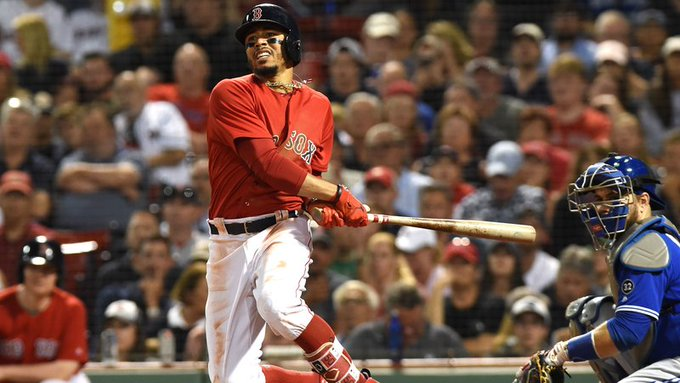 Even though the #RedSox lost, they still have a pretty hot bat in Mookie Betts, who had two triples Friday night. #DirtyWater Photo