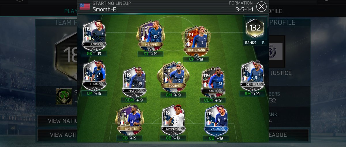 When your national team is better than most peoples' regular team 💳 @EAFIFAMOBILE