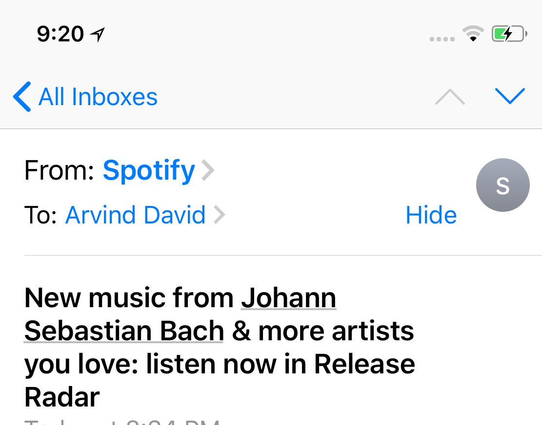 It's a classical miracle. Or perhaps Dirk lent #Spotify a time machine.