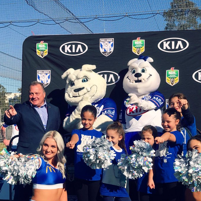 THE great Terry Lamb kicking it in the @NRL_Bulldogs Family Fun Zone! Baa is always a big hit in the Kennel. #proudtobeabulldog #NRLBulldogsSouths Photo