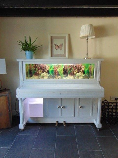 Mancave On Twitter Upcycled Vintage Piano Fish Tank Aquarium