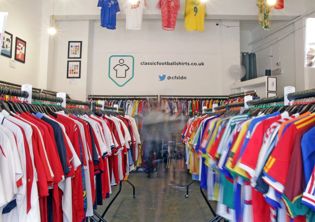 9d9859df77d Get down to Classic Football Shirt's London pop-up shop @cfsldn The best  place in London to find modern and retro football shirts. 1-3 Rivington  Street, ...