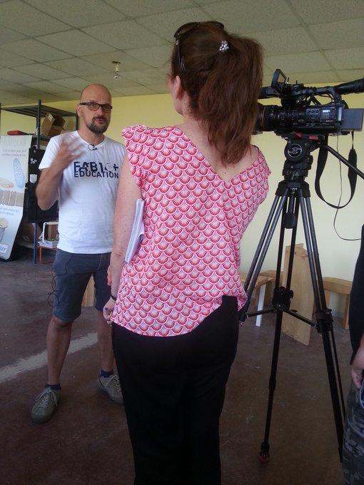 Reportage tv @F3Lorraine en cours à retrouver ce soir au journal de 19h. #fab14edu Stay tune Photo