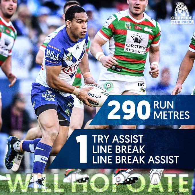 How good was Will Hopoate 👊 Was that his best performance of the 2018 season? #proudtobeabulldog #NRLBulldogsSouths Photo