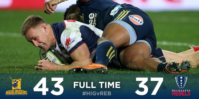 FULL TIME   Heartbreak in Dunedin with an exciting finish. Hodge finishes with 29 of our points. We are @JaguaresARG supporters at #HIGvREB Photo