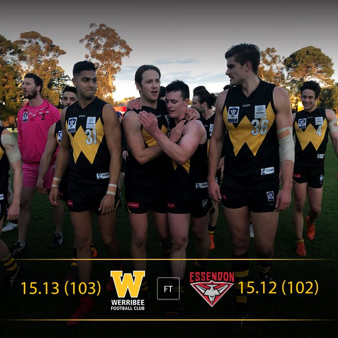 One for the ages - what a game! What a win! #PJVFL #leaveyourmark Photo