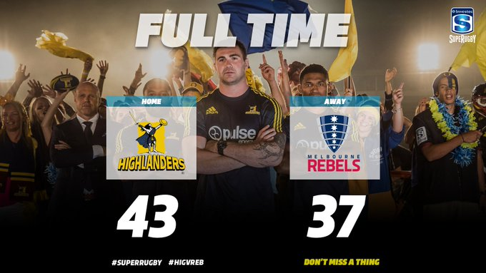 FT   Back in the winners circle! The @Highlanders edge the Rebels in an 8️⃣0️⃣ point thriller. #HIGvREB Photo